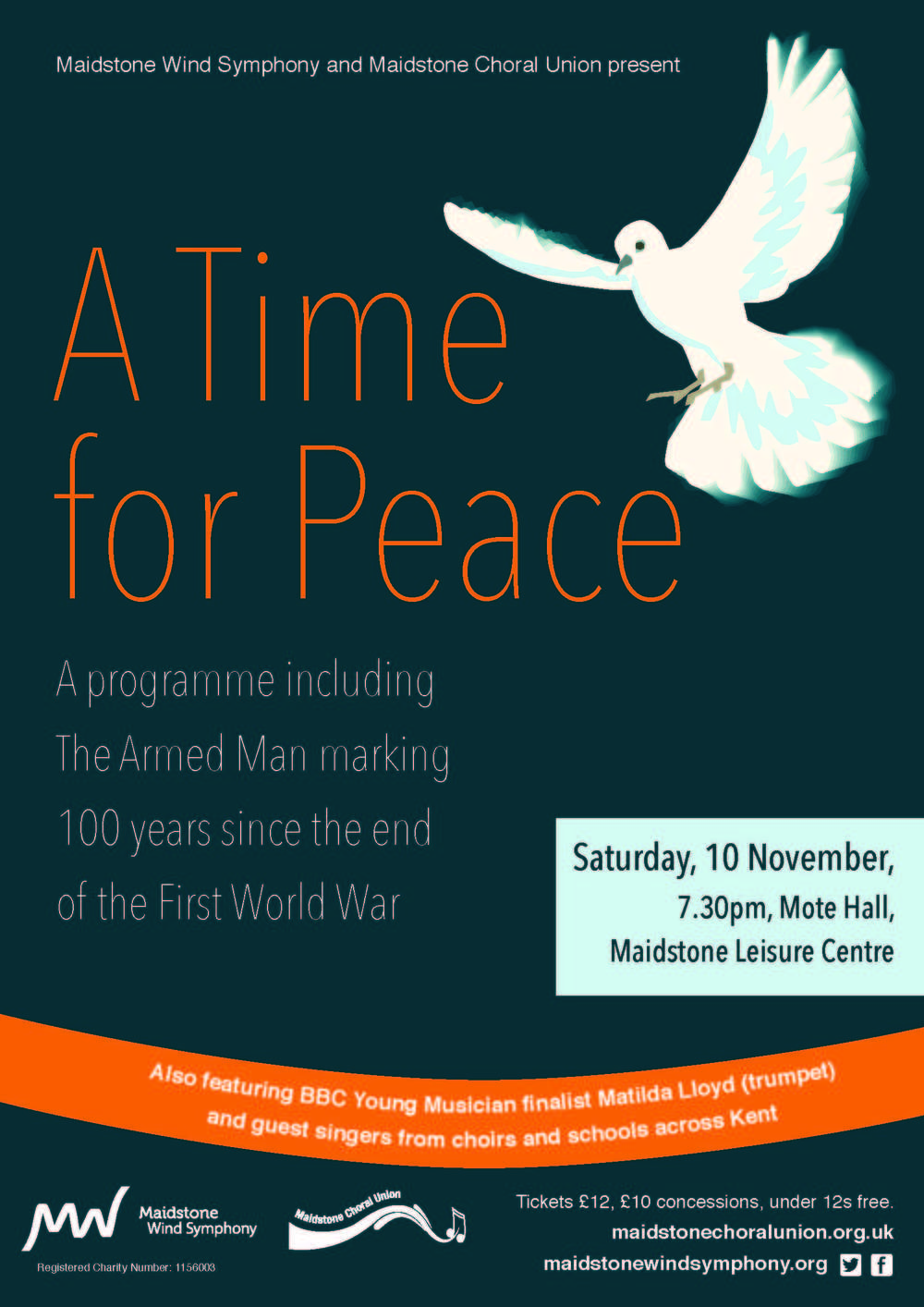 A Time for Peace - A Concert of Remembrance marking 100 years since the end of the First World War